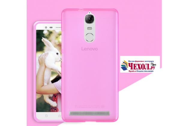 """Фирменная ультра-тонкая силиконовая задняя панель-чехол-накладка для Lenovo K6/ K6 Power 5.0"""" розовая"""
