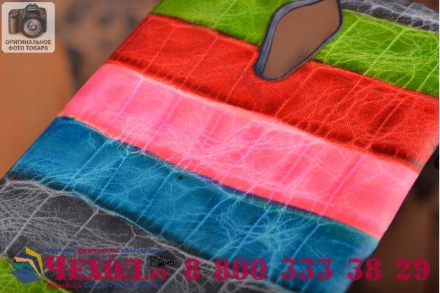 """Фирменная неповторимая экзотическая панель-крышка обтянутая кожей крокодила с фактурным тиснением для Lenovo K80/P90/P90 Pro тематика """"Тропический Коктейль"""". Только в нашем магазине. Количество ограничено."""