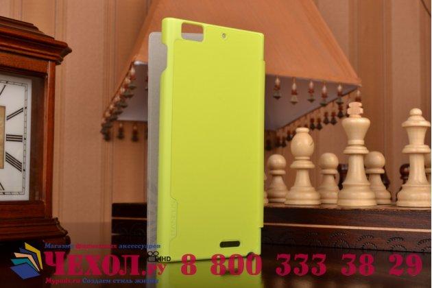 Фирменный умный тонкий чехол Smart-case/Smart-cover c функцией засыпания для Lenovo K900 зеленый пластиковый