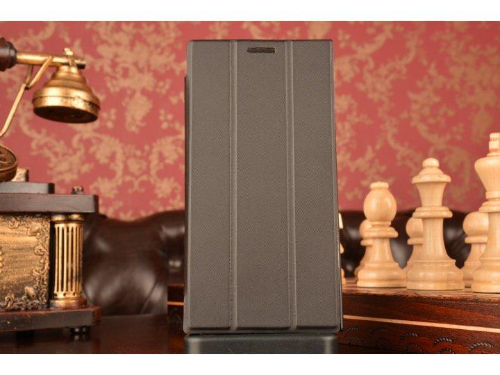 Фирменный умный тонкий чехол Smart-case/Smart-cover c функцией засыпания для Lenovo K900 черный пластиковый..
