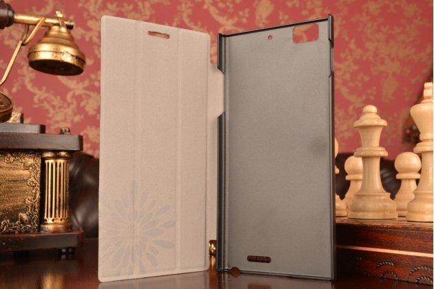 Фирменный умный тонкий чехол Smart-case/Smart-cover c функцией засыпания для Lenovo K900 черный пластиковый