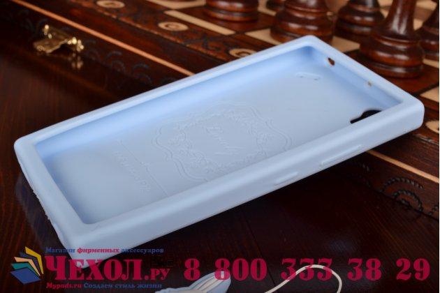 """Фирменная необычная уникальная полимерная мягкая задняя панель-чехол-накладка для Lenovo P70  """"тематика Андроид в черничном шоколаде"""""""