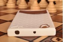 """Фирменная необычная уникальная полимерная мягкая задняя панель-чехол-накладка для Lenovo P70 """"тематика Андроид в Белом Шоколаде"""""""