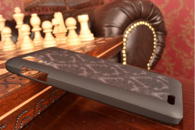 Фирменная роскошная задняя панель-чехол-накладка с расписным узором для Lenovo P780 прозрачная черная
