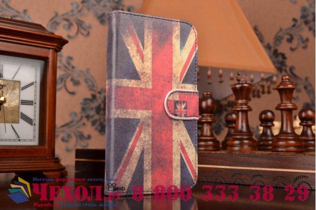"""Фирменный уникальный необычный чехол-книжка для Lenovo P780 """"тематика британский флаг"""""""