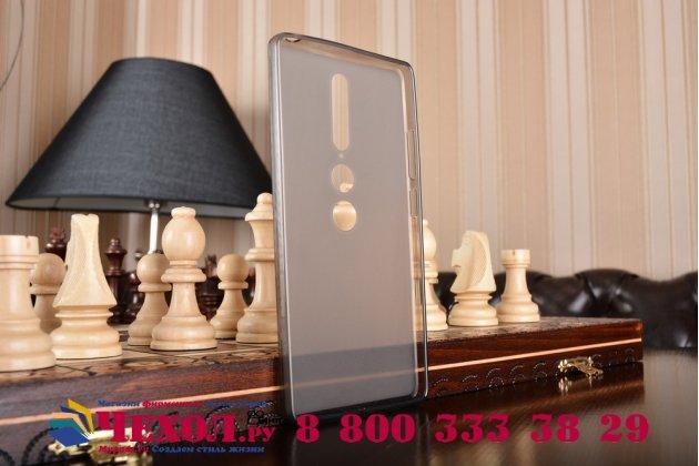 """Фирменная ультра-тонкая силиконовая задняя панель-чехол-накладка для Lenovo Phab 2 Pro PB2-690N 6.4"""" черная"""