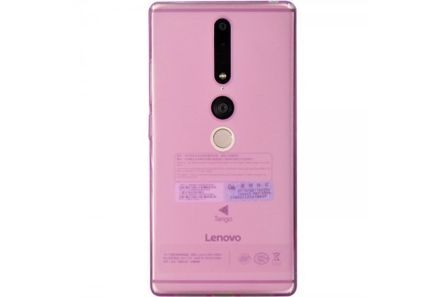 Фирменная ультра-тонкая полимерная из мягкого качественного силикона задняя панель-чехол-накладка для Lenovo Phab 2 Plus PB2-670M 6.4 розовая