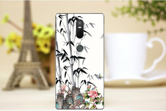 Фирменная роскошная задняя панель-чехол-накладка с безумно красивым расписным рисунком на Lenovo Phab 2 Plus PB2-670M 6.4 тематика Цветок Бамбук