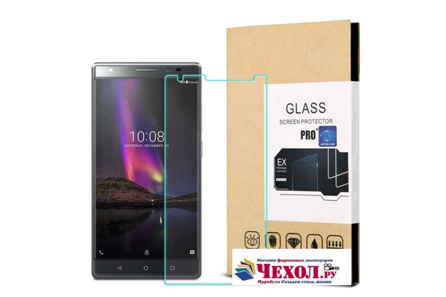 Фирменное защитное закалённое противоударное стекло премиум-класса из качественного японского материала с олеофобным покрытием для телефона Lenovo Phab 2 Plus PB2-670M 6.4