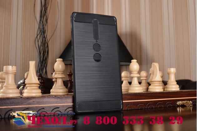 """Задняя панель-крышка из тончайшего мягкого силикона для Lenovo Phab 2 Pro PB2-690N 6.4"""" с матовой отделкой черная"""