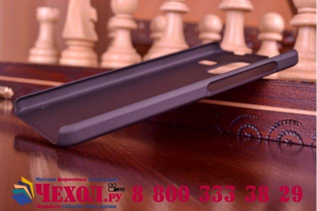 Фирменная задняя панель-крышка-накладка из тончайшего и прочного пластика для Lenovo S580 черная