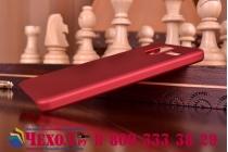 Фирменная задняя панель-крышка-накладка из тончайшего и прочного пластика для Lenovo S580 красная