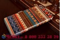 Фирменный чехол-книжка с безумно красивым эклектичным расписным рисунком на Lenovo S60