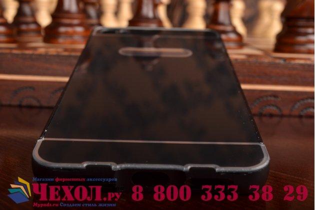 Фирменная металлическая задняя панель-крышка-накладка из тончайшего облегченного авиационного алюминия для Lenovo S60 черная
