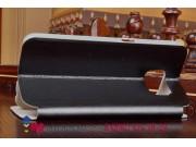 Фирменный чехол-книжка из качественной водоотталкивающей импортной кожи на жёсткой металлической основе для Le..