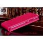 Фирменный оригинальный вертикальный откидной чехол-флип для Lenovo S60-T Sisley Mini розовый из качественной и..