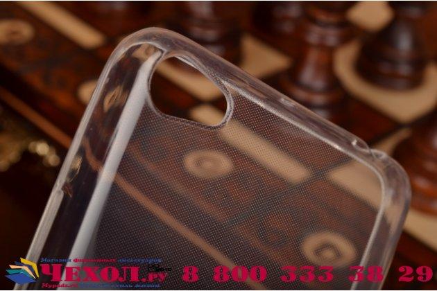 Фирменная ультра-тонкая полимерная из мягкого качественного силикона задняя панель-чехол-накладка для Lenovo S60 белая
