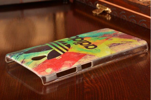 """Фирменная роскошная задняя панель-чехол-накладка с расписным узором для Lenovo S860 """"тематика Эмблема"""""""