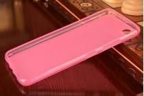 Фирменная ультра-тонкая полимерная из мягкого качественного силикона задняя панель-чехол-накладка для Lenovo Sisley S90 розовая