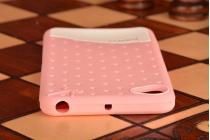"""Фирменная необычная уникальная полимерная мягкая задняя панель-чехол-накладка для Lenovo Sisley S90 (C6903) """"тематика Андроид в клубничном шоколаде"""""""