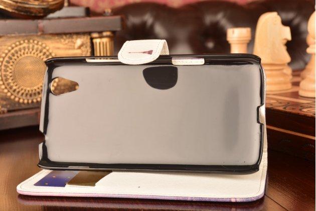 """Фирменный уникальный необычный чехол-подставка с визитницей кармашком для Lenovo S960 Vibe X  """"тематика Франция"""""""