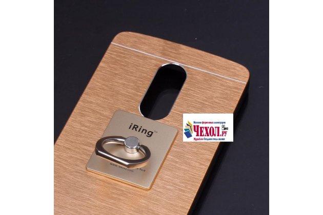 """Фирменная металлическая задняя панель-крышка-накладка из тончайшего облегченного авиационного алюминия для Lenovo Vibe Х3/ X3c50/ X3c70"""" золотая"""