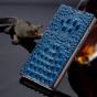 Фирменный роскошный эксклюзивный чехол с объёмным 3D изображением рельефа кожи крокодила синий для  Lenovo Vibe Х3/ X3c50/ X3c70. Только в нашем магазине. Количество ограничено