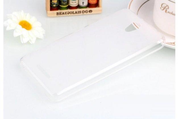 """Фирменная ультра-тонкая силиконовая задняя панель-чехол-накладка для Lenovo Vibe B (A2016A40) PA4R0021RU 4.5"""" белая"""