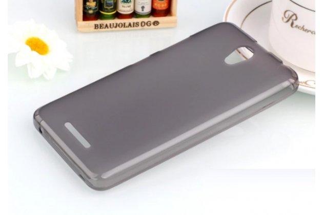 """Фирменная ультра-тонкая силиконовая задняя панель-чехол-накладка для Lenovo Vibe B (A2016A40) PA4R0021RU 4.5"""" серая"""