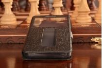 """Фирменный чехол-книжка для Lenovo Vibe C (A2020 / A2020a40 Dual Sim /A3910 ) 5.0"""" черный с окошком для входящих вызовов и свайпом водоотталкивающий"""