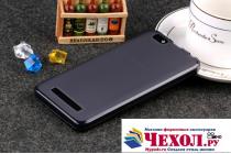 """Фирменная ультра-тонкая силиконовая задняя панель-чехол-накладка для Lenovo Vibe C (A2020 / A2020a40 Dual Sim ) 5.0"""" черная"""