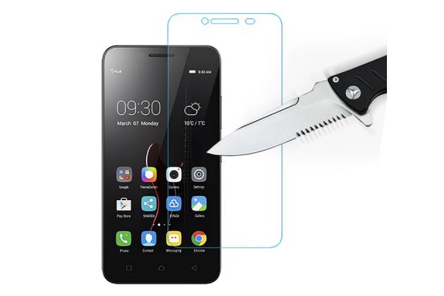 """Фирменное защитное закалённое противоударное стекло премиум-класса из качественного японского материала с олеофобным покрытием для телефона Lenovo Vibe C (A2020 / A2020a40 Dual Sim ) 5.0"""""""