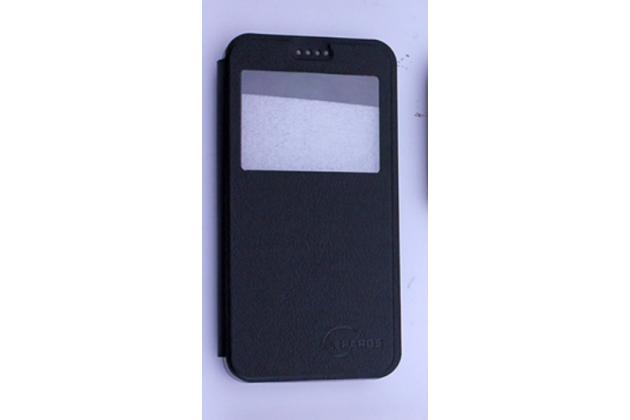 """Фирменный оригинальный чехол-книжка для Lenovo Vibe C (A2020 / A2020a40 Dual Sim /A3910 ) 5.0"""" черный с окошком для входящих вызовов водоотталкивающий"""
