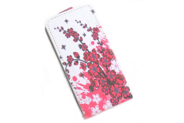 """Фирменный уникальный необычный чехол-флип для Lenovo Vibe C (A2020 / A2020a40 Dual Sim /A3910 ) 5.0"""" """"тематика цветок Сакуры"""""""