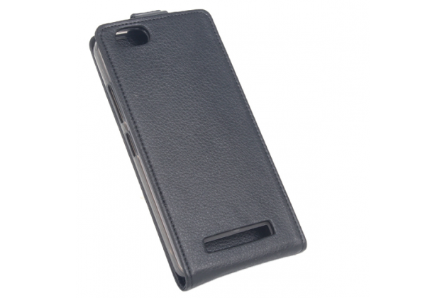 """Фирменный вертикальный откидной чехол-флип для Lenovo Vibe C (A2020 / A2020a40 Dual Sim /A3910 ) 5.0"""" черный"""