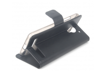 """Фирменный чехол-книжка для Lenovo Vibe C2 5.0"""" / VIBE C2 Power/ K10 ( K10A40/ PA450118RU) с визитницей и мультиподставкой черный кожаный"""