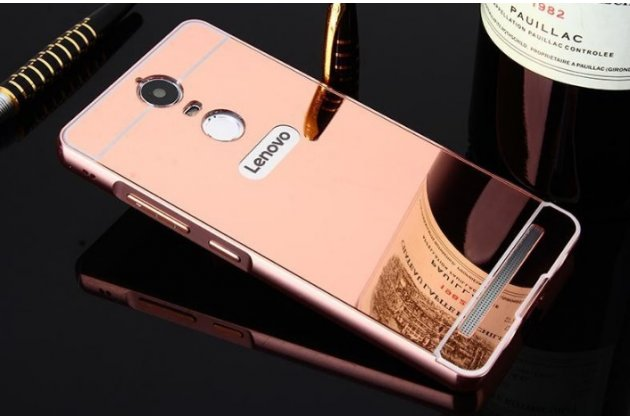 """Фирменная металлическая задняя панель-крышка-накладка из тончайшего облегченного авиационного алюминия для Lenovo Vibe K5/ Vibe K5 Plus (A6020 / A6020a40 / A6020a46) 5.0""""  розовое золото"""