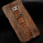 """Фирменная элегантная экзотическая задняя панель-крышка с фактурной отделкой натуральной кожи крокодила кофейного цвета для  Lenovo Vibe P1 / P1 Pro (C72) 5.5"""" . Только в нашем магазине. Количество ограничено."""