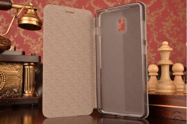 """Фирменный чехол-книжка  для Lenovo Vibe P1 / P1 Pro (C72) 5.5"""" из качественной водоотталкивающей импортной кожи на жёсткой металлической основе голубого  цвета"""