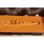 """Фирменный роскошный эксклюзивный чехол с объёмным 3D изображением кожи крокодила коричневый для Lenovo Vibe P1 / P1 Pro (C72) 5.5""""  . Только в нашем магазине. Количество ограничено"""