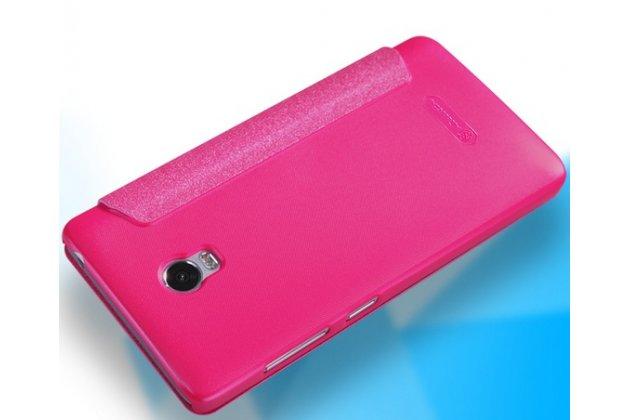 """Фирменный оригинальный чехол-книжка для Lenovo Vibe P1 / P1 Pro (C72) 5.5"""" розовый с окошком для входящих вызовов водоотталкивающий"""