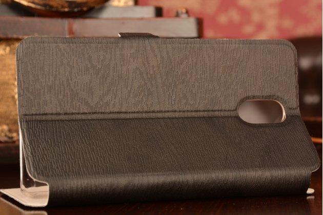 """Фирменный чехол-книжка из качественной водоотталкивающей импортной кожи на жёсткой металлической основе для Lenovo Vibe P1m 5.0"""" / P1ma40 / PA1G0001RU / 002RU черный"""