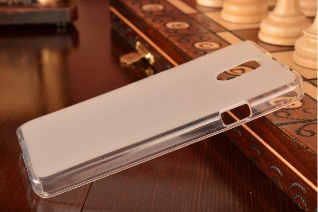 """Фирменная ультра-тонкая полимерная из мягкого качественного силикона задняя панель-чехол-накладка для Lenovo Vibe P1m 5.0"""" / P1ma40 / PA1G0001RU / 002RU белая"""
