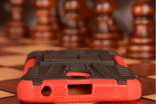 """Противоударный усиленный ударопрочный фирменный чехол-бампер-пенал для Lenovo Vibe P1m 5.0"""" / P1ma40 / PA1G0001RU / 002RU красный"""