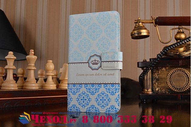 Фирменный уникальный необычный чехол-книжка для Lenovo Vibe P2 тематика Корона в винтажном стиле