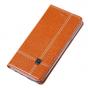 Фирменный неповторимый чехол-книжка для Lenovo Vibe S1 из импортной кожи коричневый..