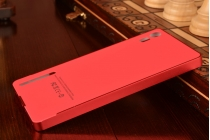 Фирменная металлическая задняя панель-крышка-накладка из тончайшего облегченного авиационного алюминия для Lenovo Vibe Shot Z90/Z90-3/Z90-7/Z90-A40/Z90A40 LTE 5.0 красная