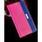 Фирменный неповторимый чехол-книжка для Lenovo Vibe S1 из импортной кожи розово-синий..