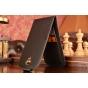 Фирменный оригинальный вертикальный откидной чехол-флип для Lenovo Vibe S1 черный из натуральной кожи