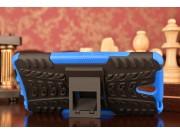 Фирменная противоударная задняя панель-крышка-накладка из прочного пластика для Lenovo Vibe S1 синяя..